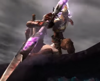 Kratos schiva lancia
