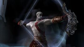 Kratos usando la Perdición de Tifón