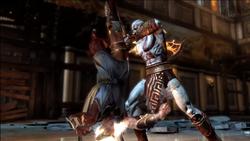 Kratos mata a Hermes