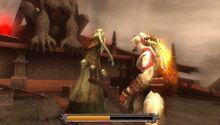 Kratos tramortisce caronte