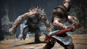 Kratos contra un Jotun