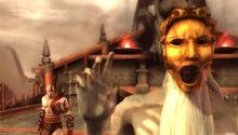 Caronte si rifiuta di trasportare Kratos