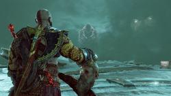 Kratos, Mimir, Hraesvelgr y Zeus