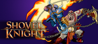 Kratos en la portada de shovel knight