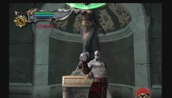 Kratos con el amuleto
