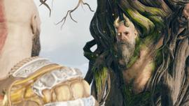 Mimir conversando con Kratos