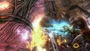 Kratos Stabs Gaia's Heart