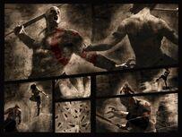 Pothia en batalla contra kratos