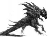 Monstruo de picos y multiples patas