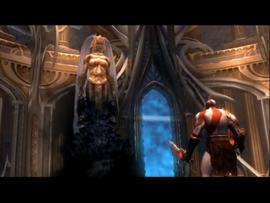 Atropos aparece ante Kratos
