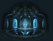 Cámara del Ojo de Atlantis en el Templo de Poseidón