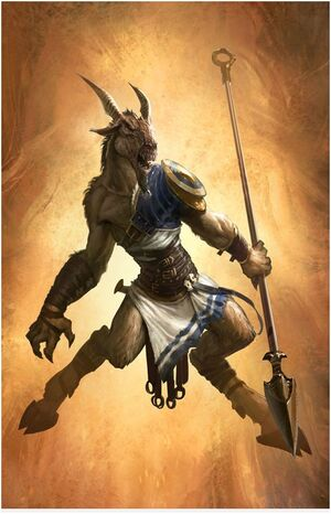 Spear Satyr (GoW A) Concept Art HD