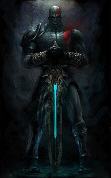 Kratos con la Espada del Olimpo