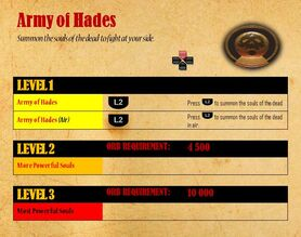 Army of Hades - attacks