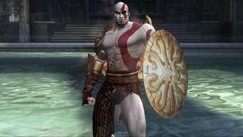 Kratos con el Escudo de Perseo