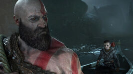 God of War - Screenshot - Kratos & Atreus