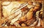 Zeus scaglia saette