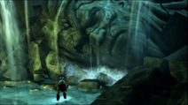 Statua Poseidone minaccia kratos atlantide distrutta GoW GoS 03