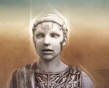 Estatua de Atenea en el Desierto de las Almas Perdidas