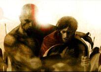 Kratos ayundando a Nikos