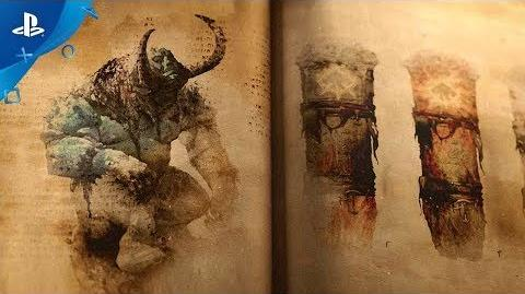 God of War -- The Lost Pages of Norse Myth A Fire Troll Approaches PS4