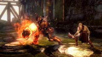Talos de Fuego vs Kratos 2