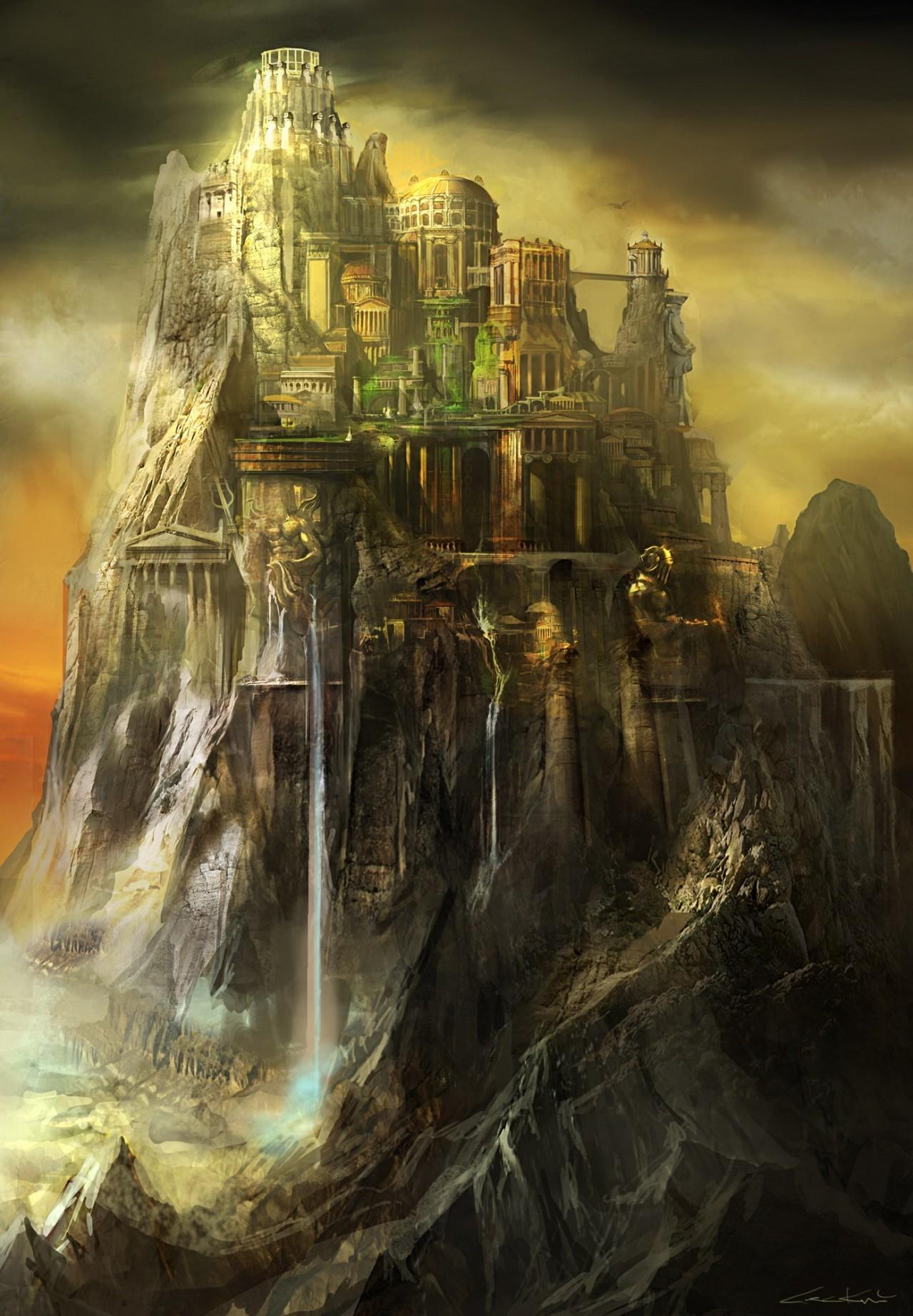 Imagen concepto del monte olimpo god of war wiki for God of war 3 jardines del olimpo