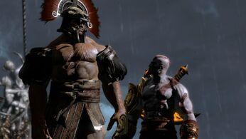 Heracles junto a Kratos
