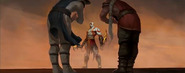 Kratos with Raiden and Fujin