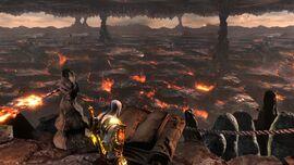 Kratos en las Fosas del Tártaro