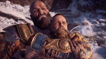 Kratos estrangulando a Baldur 2
