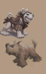 Perro descartado que acompañaba a Kratos