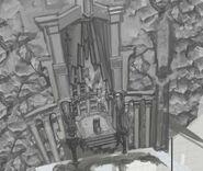 Boceto artistico de trono chains of olympus