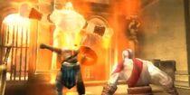 El rey persa usando el poder del Genio