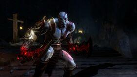 Kratos con las Espadas de Atenea