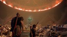 Kratos y su hijo con tesoros