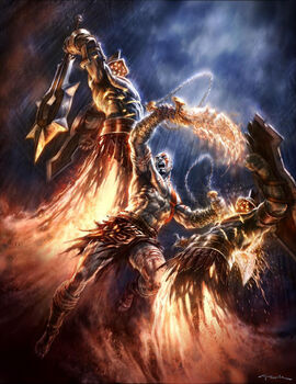 Kratos vs Guardias Hiperión