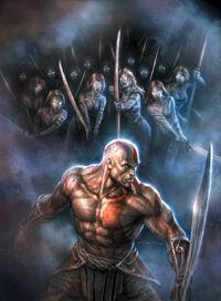 Kratos vs Guerreras de Keros