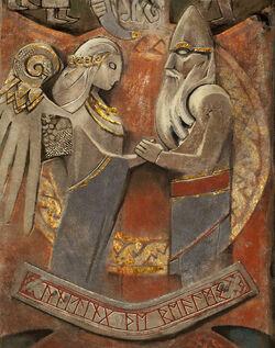 Boda entre Odín y Freya