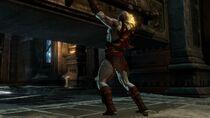 Kratos entando a la Tumba de Ares