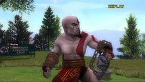 Kratos en Hot Shot Golf 2