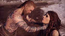 Baldur estrangulando a Freya