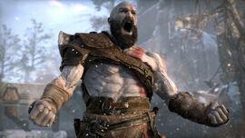 Kratos invocando la Ira Espartana