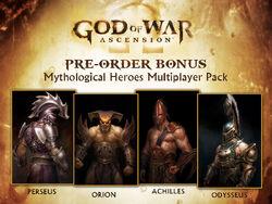 Multijugador Ascension - Perseo, Orion, Aquiles y Odiseo