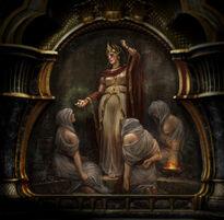 Pintura del Oráculo Alétheia 2