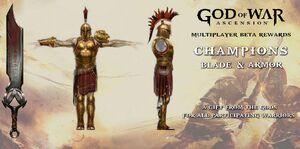 Multiplayer Beta reward armor and blade