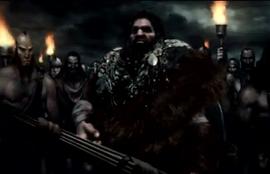 El rey barbaro durante la guerra