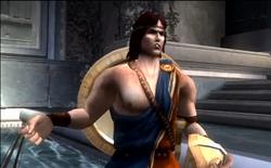 Perseo hablando con Kratos