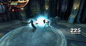 Kratos usando el Ojo de Atlantis