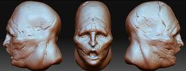 Modelo 3D de la cabeza de Thera